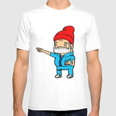 Zissou MEDIUM White Mens Fitted Tee