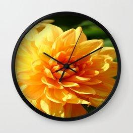 Dahlia Macro Wall Clock