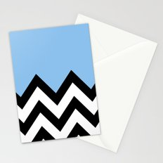 BLUE COLORBLOCK CHEVRON Stationery Cards
