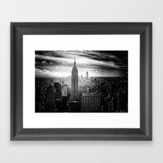 New york city black white 2 Framed Art Print