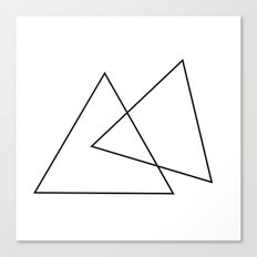 Double Triangles Canvas Print