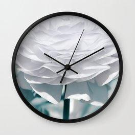 White flower 195 Wall Clock