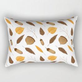 Autumn brown orange acorn fall leaves Rectangular Pillow