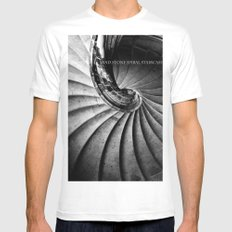 Sand stone spiral staircase Mens Fitted Tee White SMALL