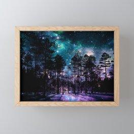 One Magical Night... teal & purple Framed Mini Art Print