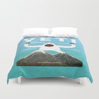 yeti Duvet Covers featuring Yeti by Artificial primate