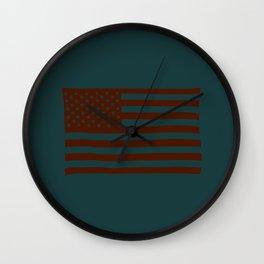 American Flag Fairfax Wall Clock