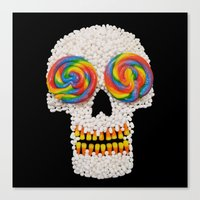 Skullipop Canvas Print