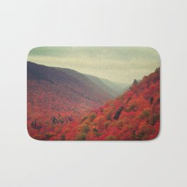 Landscape Photograph - Cape Breton Island, Red Decor Bath Mat