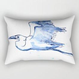 Heron in Indigo Rectangular Pillow