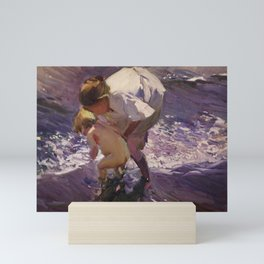 Joaquin Sorolla - Bathing on the Beach, 1908 Mini Art Print
