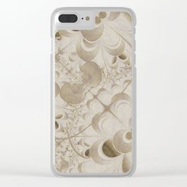 Abstract beige pattern Clear iPhone Case