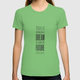 Lab No. 4 - Dream To Create Future Victor Hugo Movie Typography Quotes Poster T-shirt