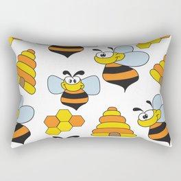 Happy Bee Rectangular Pillow