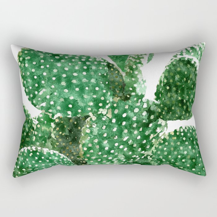 Velvet Cactus Rectangular Pillow