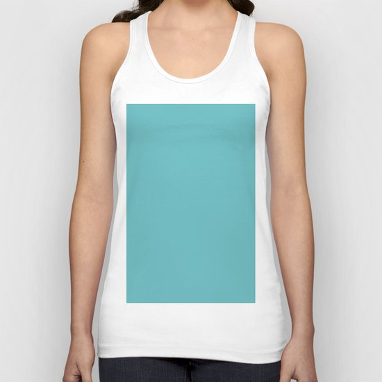 Simply Aqua- Mix and Match- A darker day at the Beach Unisex Tank Top
