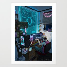 Modern Male Witch: Home Office Art Print
