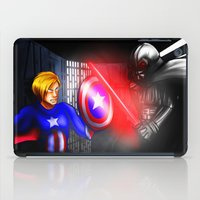 fight iPad Cases featuring Fight! by Momo Aiko