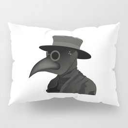 Medieval Plague Doctor Pillow Sham