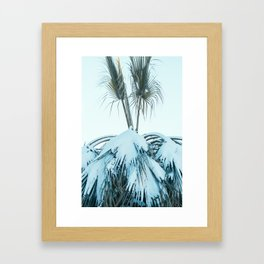 Palm and Snow Framed Art Print