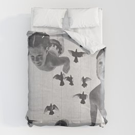 Murmuration - collage  Comforters