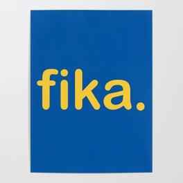Fika Gul & Blå Poster