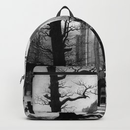 Caspar David Friedrich - Monastery Burial-Ground Under Snow.jpg Backpack