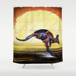 Kangaroo Dreaming Shower Curtain