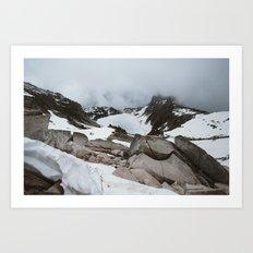 Hidden Lake Overlook Art Print
