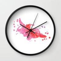 dumbo Wall Clocks featuring Dumbo Disneys by Carma Zoe