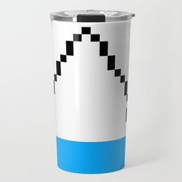 Pixel Art Yoga Downward Dog Pose Travel Mug
