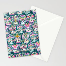 CARPE DIEM SKULLS - EMERALD Stationery Cards