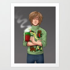 Tacky Christmas Sweater Art Print