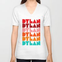 dylan V-neck T-shirts featuring Dylan by Jeremy Lin