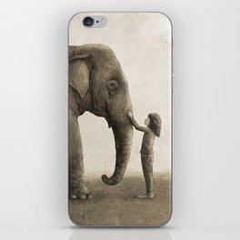 One Amazing Elephant - sepia option iPhone Skin