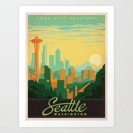 Vintage poster - Seattle Art Print