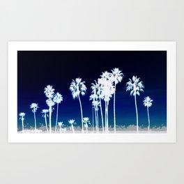 White Palm Trees Art Print