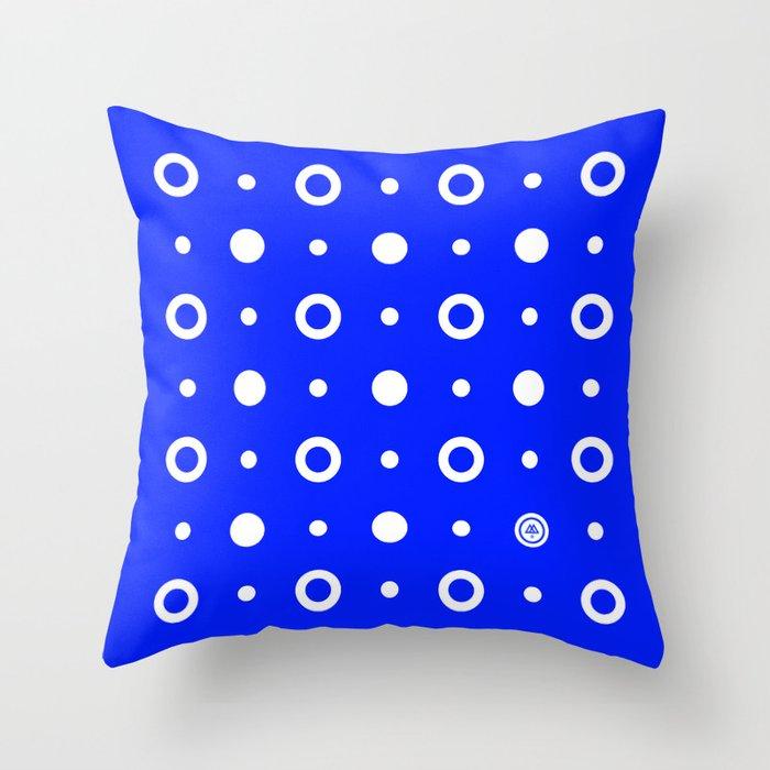Dots / Blue Throw Pillow