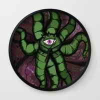 gore Wall Clocks featuring Shuma GORE WRATH by Of Lions And Lambs