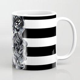 Black & White Sugar Skull Girl Coffee Mug