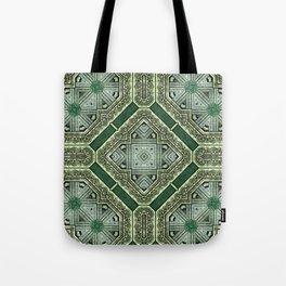 Victorian Art Deco Medieval Pattern SB40 Tote Bag