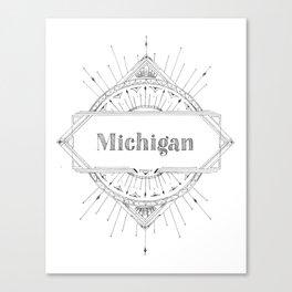 Art Deco Michigan Canvas Print