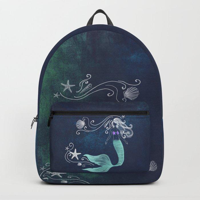 chalk mermaid #2 Backpack