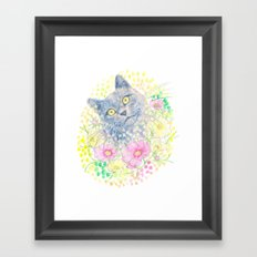 Dreamy Chartreux Cat Framed Art Print