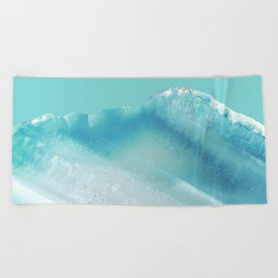 Geode Crystal Turquoise Blue Beach Towel