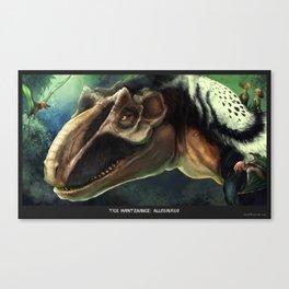Tick Maintenance: Allosaurus Canvas Print