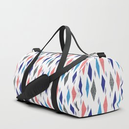 Danish Diamond Mid-Century Geometric Print Duffle Bag