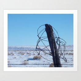 High Plains Fence Art Print