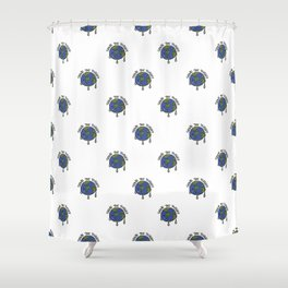 Save The Planet Concept Pattern Shower Curtain