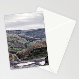 pennine winter crossroads Stationery Cards
